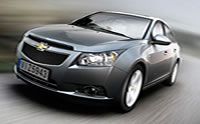 2012 Chevrolet Cruze - Profile Shot with Ice Blue Exterior