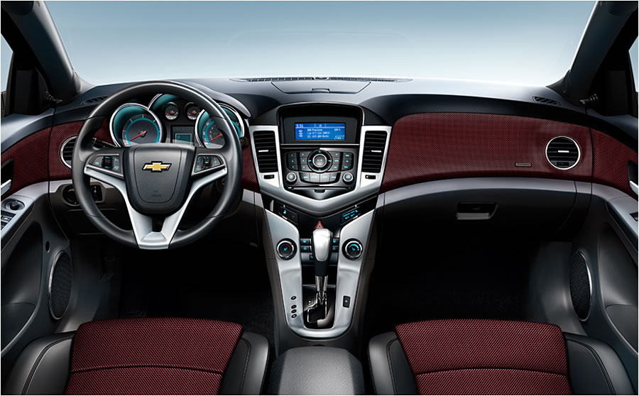 Cruze also has available finishing touches: leather seat appointments or